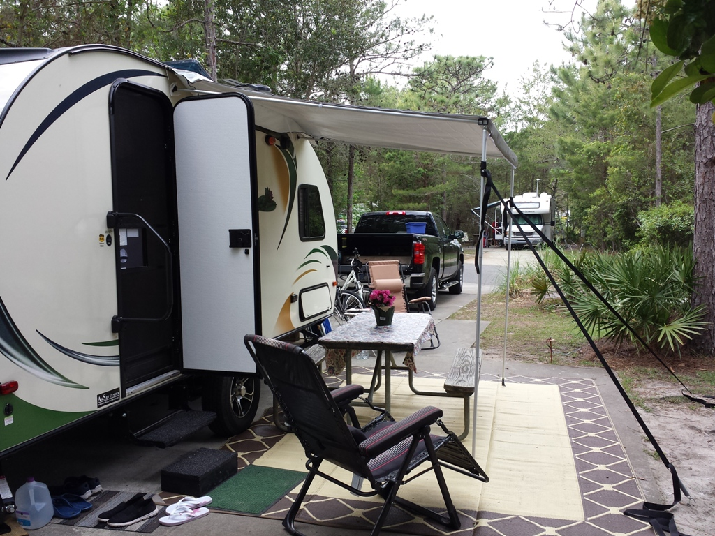 The R Pod Channel Was Too Big So I Bought Plastic Tubing And Attached It To Awning Snug Fit Dometic RV Camper Trailer Pop Up 8ft AE Trim Line Bamboo